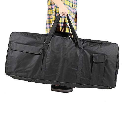 ammoon 61-Key Keyboard Electric Piano Organ Gig Bag Soft Case Dual Zipper 39.3″ * 15.7&#82 ...