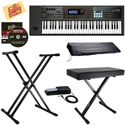 Roland JUNO-DS61 Synthesizer Bundle with Roland DP-10 Damper Pedal, Adjustable Stand, Bench, Dus ...