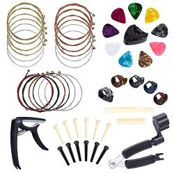 Benvo Guitar Accessories Kit All-in 1 Guitar Tool Changing Kit Including Guitar Picks, Capo, Aco ...
