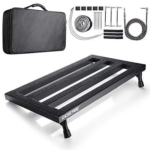 vangoa guitar effect pedal board case aluminum alloy with bag 22 2 x x inch. Black Bedroom Furniture Sets. Home Design Ideas