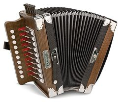 Hohner 3002B Cajun Ariette Accordion in Dark Brown