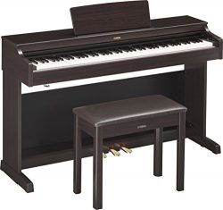 Yamaha YDP 163R Arius Series Console Digital Piano with Bench, Dark Rosewood