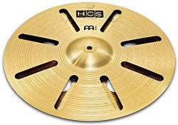 Meinl 14″ Trash Stack Cymbal Pair with Holes – HCS Traditional Finish Brass for Drum ...