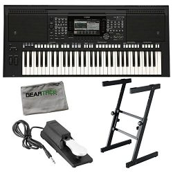 Yamaha PSR-S775 61-Note Workstation Keyboard w/Sustain Pedal, Stand, and Cloth