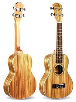 Ukulele,Rabing 23 inches Acoustic Ukulele in Zebrawood for kids Students and Beginners