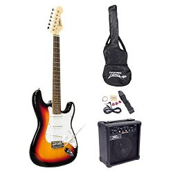 PylePro Full Size Electric Guitar Package w/Amp, Case & Accessories, Electric Guitar Bundle, ...