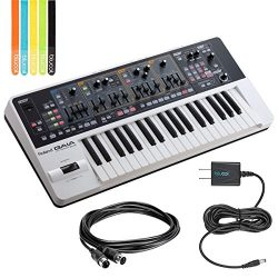Roland GAIA SH-01 Analog Synthesizer -INCLUDES- Hosa MID-305BK 5-ft MIDI Cable, Blucoil Power Su ...
