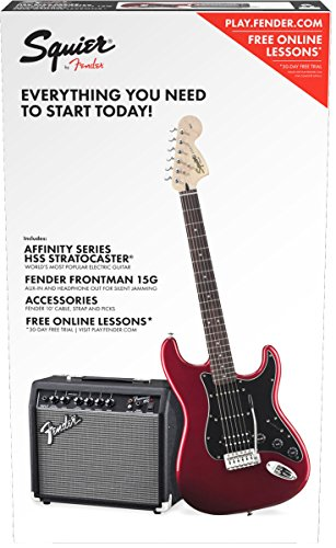 Squier by Fender Affinity Series Stratocaster Beginner Electric Guitar Pack – HSS –  ...