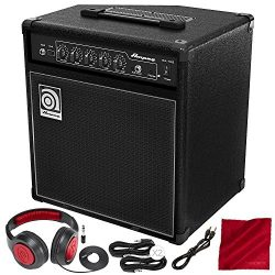 Ampeg BA-108V2 20-Watt 8″ Bass Combo Amplifier and Deluxe Bundle w/ Closed-Back Headphones ...