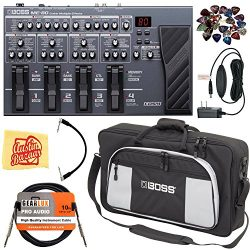 Boss ME-80 Multi-Effect Pedal Bundle with Carrying Bag, Power Supply, Instrument Cable, Patch Ca ...
