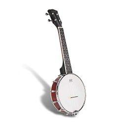 SANDONA Banjolele | 4Strings Banjo Maple Ukulele Uke With Bag | Remo Drum Head | Open Back Desi ...