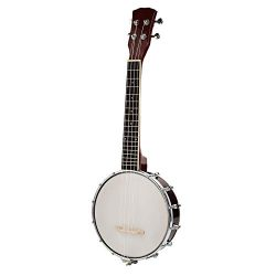 LAGRIMA 4 String Banjo Uke Ukulele Banjolele for Beginner/Kids, 24.5 Inch Size, Natural Wood