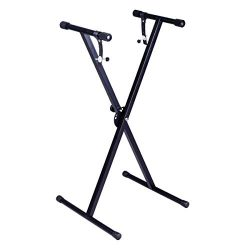 "Costzon New Black Keyboard Piano""X"" Stand Electric Organ Rack Metal Height Adjustable"
