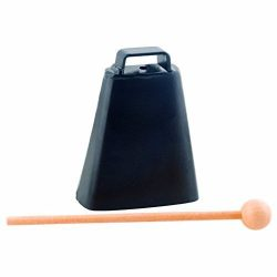 Black Metal Cowbell with Mallet – 4.25 x 3 x 1.25 inches
