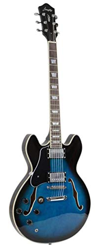 Firefly Semi-Hollow Body Guitar Left (Blue Burst)