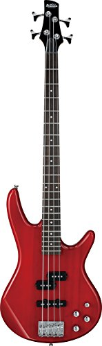 Ibanez GSR 4 String Bass Guitar Right Handed, Transparent Red GSR200TR