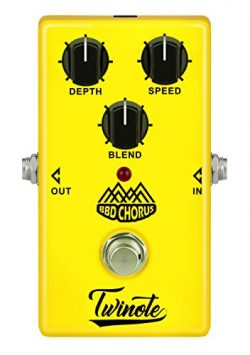 New Digital Bass Effect Pedal,Twinote Guitar Effect Pedal, BBD Chorus