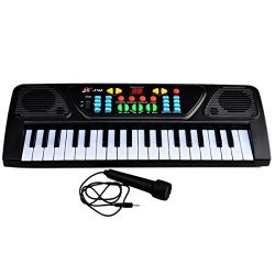 Piano for Children, Yamix Multi-function 37 Key Electronic Organ Music Keyboard Small Electronic ...