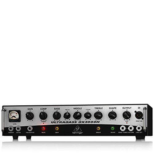 BEHRINGER BX2000H 2,000-Watt Class-D Bass Amplifier with Mosfet Preamp Compressor and Dynamizer  ...