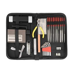 Complete Guitar Accessories Repair and Maintenance Kit – Large Care Set of Tools For Guita ...
