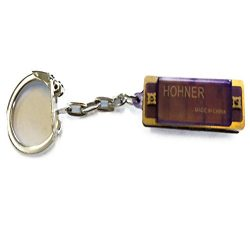 Hohner Mini Color Harmonica KeyChain, Purple