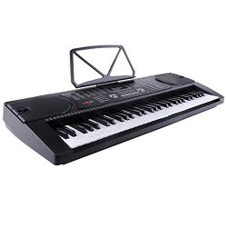 LAGRIMA Electric Piano Keyboard, 61 key Keyboard Music Piano, Portable Electronic Digital Piano  ...
