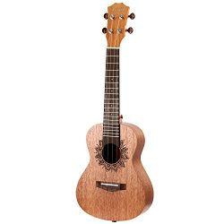 Neewer 23 inches Ukulele Rosewood Body and Rosewood Fingerboard with 4 Carbon Strings, Ideal for ...