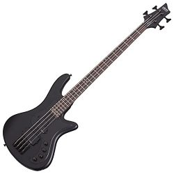 Schecter 2522 4-String Bass Guitar, Satin Black