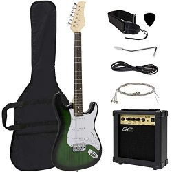 Best Choice Products 41in Full Size Beginner Electric Guitar Bundle Kit w/Case, Strap, 10W Amp,  ...