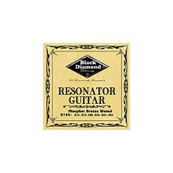 Black Diamond Phosphor Bronze Resonator Guitar Strings