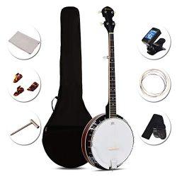 Sonart 5-String Banjo Remo Drum 24 Adjustable Brackets, Mid-range Closed Handle and Mid-range St ...
