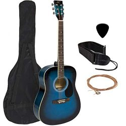 Best Choice Products 41in Full Size All-Wood Acoustic Guitar Starter Kit w/Case, Pick, Shoulder  ...