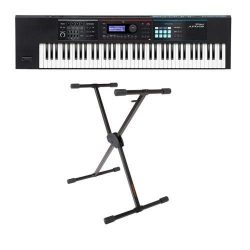 Roland JUNO-DS Series 76-Key Synthesizer – Bundle With KS-10X Single Brace Keyboard X-Stand