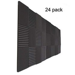 24 Pack- Acoustic Panels Studio Foam Wedges 1″ X 12″ X 12″