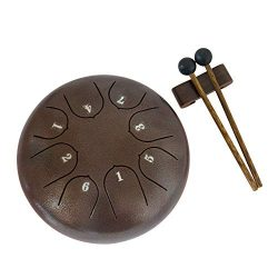 Luvay Steel Tongue Drum – 8 Notes 6 inches – Percussion Instrument – with Pouc ...
