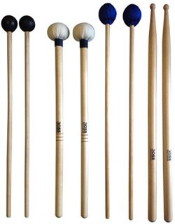 ROSS Percussion Intermediate Drum Mallet Set:General Timpani, SD2 Drumsticks, Medium Keyboard Ma ...