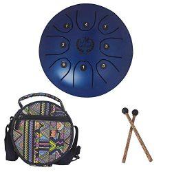 PROKTH Mebite 5.5 Inch Mini Steel Tongue Drum Handpan Brahma Drum Concert Percussion