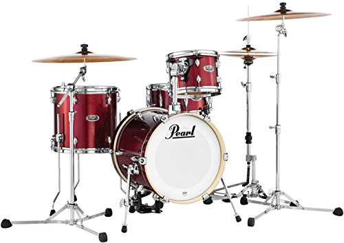 Pearl Midtown MDT764P/C704 4 Piece Drum Shell Pack, Black Cherry Glitter