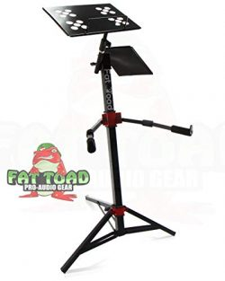 DJ Workstation Stand by Fat Toad | Portable, Adjustable Stand Up For Mixer, MIDI Controller Moun ...