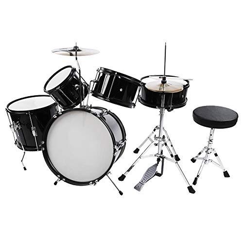 acoustic drum set 5pcs full size drum kit stool drumsticks pedal beginners set percussion