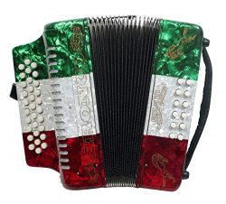 Rizatti Bronco RB31GM Diatonic Accordion – Mexican Flag – Key G/C/F
