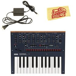 Korg Monologue Monophonic Analog Synthesizer – Blue Bundle with Power Supply and Austin Ba ...