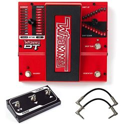 Digitech Whammy DT Pitch Shift Drop Tune Guitar Effects Pedal Bundle with 2 Patch Cables and FS3 ...