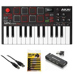 Akai Professional MPK Mini Play – Compact Keyboard and Pad Controller with Integrated Soun ...