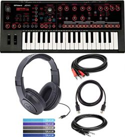 Roland JD-Xi USB MIDI Synthesizer Bundled with Samson SR350 Closed-Back Headphones, Hosa CPP-202 ...