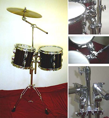 NEW BLACK 8″&10″ CONCERT TOMS DRUM With HARDWARE.FREE 14″ CYMBAL