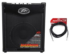 Peavey Max 110 Electric Bass Guitar Amplifier Combo Amp+10″ Speaker+Cable