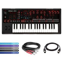 Roland JD-Xi Analog/Digital Synthesizer with USB MIDI Connectivity BUNDLED WITH Hosa CPP-202 Ste ...