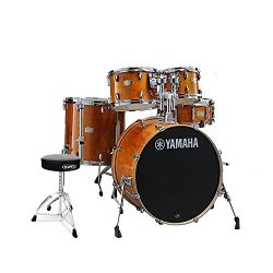Yamaha SBP2F50HA Stage Custom Birch Acoustic 5-Piece Shell Drum Pack Set in Honey Amber Finish w ...