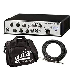 Aguilar Tone Hammer 500 Super Light 500 Watt Solid State Bass Amplifier Head with Drive Control, ...